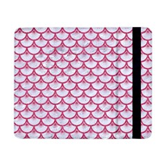 Scales3 White Marble & Pink Denim (r) Samsung Galaxy Tab Pro 8 4  Flip Case by trendistuff