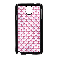 Scales3 White Marble & Pink Denim (r) Samsung Galaxy Note 3 Neo Hardshell Case (black)