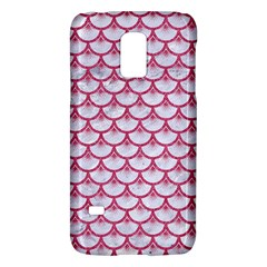 Scales3 White Marble & Pink Denim (r) Galaxy S5 Mini