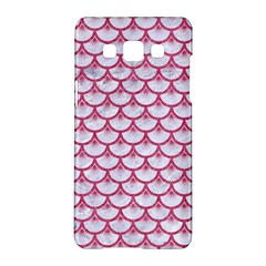 Scales3 White Marble & Pink Denim (r) Samsung Galaxy A5 Hardshell Case