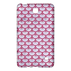 SCALES3 WHITE MARBLE & PINK DENIM (R) Samsung Galaxy Tab 4 (8 ) Hardshell Case