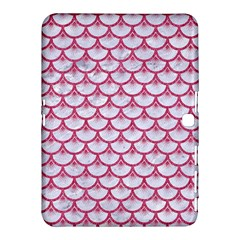 SCALES3 WHITE MARBLE & PINK DENIM (R) Samsung Galaxy Tab 4 (10.1 ) Hardshell Case