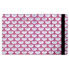 Scales3 White Marble & Pink Denim (r) Apple Ipad Pro 12 9   Flip Case by trendistuff