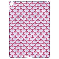 Scales3 White Marble & Pink Denim (r) Apple Ipad Pro 12 9   Hardshell Case