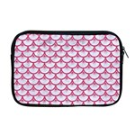 SCALES3 WHITE MARBLE & PINK DENIM (R) Apple MacBook Pro 17  Zipper Case Front