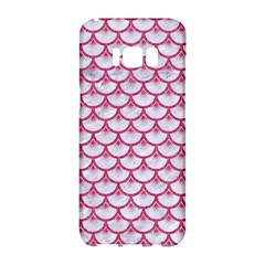 SCALES3 WHITE MARBLE & PINK DENIM (R) Samsung Galaxy S8 Hardshell Case