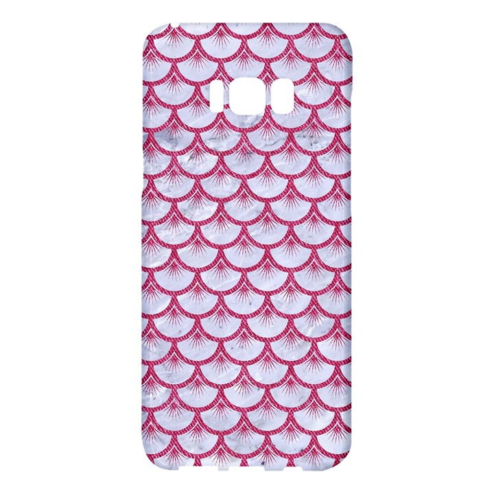 SCALES3 WHITE MARBLE & PINK DENIM (R) Samsung Galaxy S8 Plus Hardshell Case