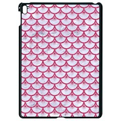 Scales3 White Marble & Pink Denim (r) Apple Ipad Pro 9 7   Black Seamless Case by trendistuff