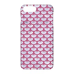 Scales3 White Marble & Pink Denim (r) Apple Iphone 8 Plus Hardshell Case