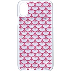 Scales3 White Marble & Pink Denim (r) Apple Iphone X Seamless Case (white) by trendistuff