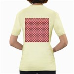 SCALES3 WHITE MARBLE & PINK DENIM Women s Yellow T-Shirt Back