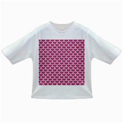 Scales3 White Marble & Pink Denim Infant/toddler T Shirts