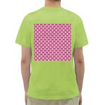 SCALES3 WHITE MARBLE & PINK DENIM Green T-Shirt Back