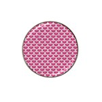 SCALES3 WHITE MARBLE & PINK DENIM Hat Clip Ball Marker (4 pack) Front