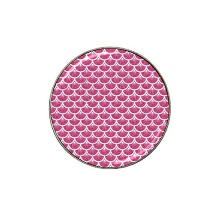 SCALES3 WHITE MARBLE & PINK DENIM Hat Clip Ball Marker (4 pack)