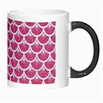 SCALES3 WHITE MARBLE & PINK DENIM Morph Mugs Right