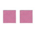 SCALES3 WHITE MARBLE & PINK DENIM Cufflinks (Square) Front