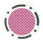 SCALES3 WHITE MARBLE & PINK DENIM Poker Chip Card Guard Back