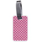 SCALES3 WHITE MARBLE & PINK DENIM Luggage Tags (Two Sides) Back