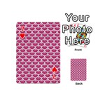 SCALES3 WHITE MARBLE & PINK DENIM Playing Cards 54 (Mini)  Front - Heart7