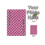 SCALES3 WHITE MARBLE & PINK DENIM Playing Cards 54 (Mini)  Front - Joker1