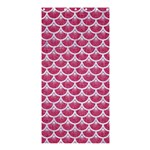 SCALES3 WHITE MARBLE & PINK DENIM Shower Curtain 36  x 72  (Stall)  33.26 x66.24  Curtain