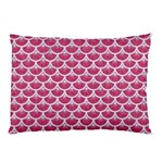 SCALES3 WHITE MARBLE & PINK DENIM Pillow Case (Two Sides) Front