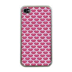 Scales3 White Marble & Pink Denim Apple Iphone 4 Case (clear) by trendistuff