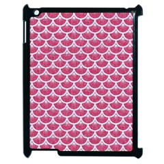 Scales3 White Marble & Pink Denim Apple Ipad 2 Case (black) by trendistuff