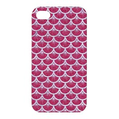 Scales3 White Marble & Pink Denim Apple Iphone 4/4s Hardshell Case by trendistuff