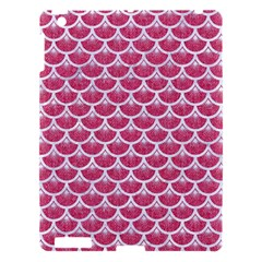 Scales3 White Marble & Pink Denim Apple Ipad 3/4 Hardshell Case by trendistuff