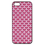 SCALES3 WHITE MARBLE & PINK DENIM Apple iPhone 5 Seamless Case (Black) Front