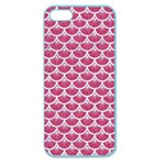 SCALES3 WHITE MARBLE & PINK DENIM Apple Seamless iPhone 5 Case (Color) Front