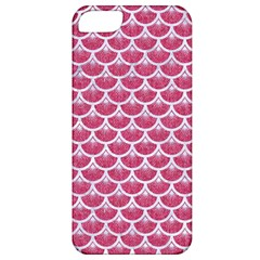 Scales3 White Marble & Pink Denim Apple Iphone 5 Classic Hardshell Case by trendistuff