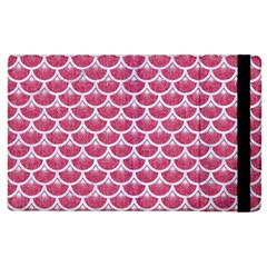 Scales3 White Marble & Pink Denim Apple Ipad 2 Flip Case by trendistuff