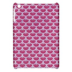 Scales3 White Marble & Pink Denim Apple Ipad Mini Hardshell Case by trendistuff