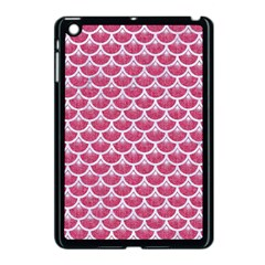 Scales3 White Marble & Pink Denim Apple Ipad Mini Case (black) by trendistuff