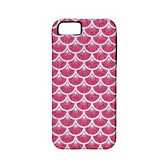 Scales3 White Marble & Pink Denim Apple Iphone 5 Classic Hardshell Case (pc+silicone)