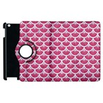 SCALES3 WHITE MARBLE & PINK DENIM Apple iPad 2 Flip 360 Case Front