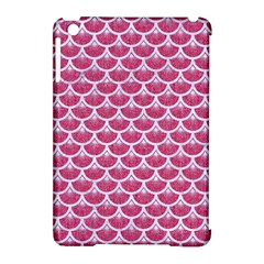 Scales3 White Marble & Pink Denim Apple Ipad Mini Hardshell Case (compatible With Smart Cover) by trendistuff