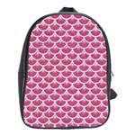 SCALES3 WHITE MARBLE & PINK DENIM School Bag (XL) Front