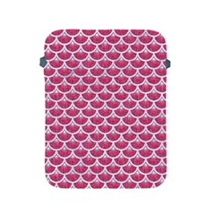 Scales3 White Marble & Pink Denim Apple Ipad 2/3/4 Protective Soft Cases by trendistuff