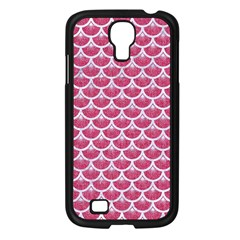 Scales3 White Marble & Pink Denim Samsung Galaxy S4 I9500/ I9505 Case (black)