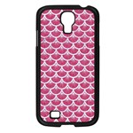 SCALES3 WHITE MARBLE & PINK DENIM Samsung Galaxy S4 I9500/ I9505 Case (Black) Front