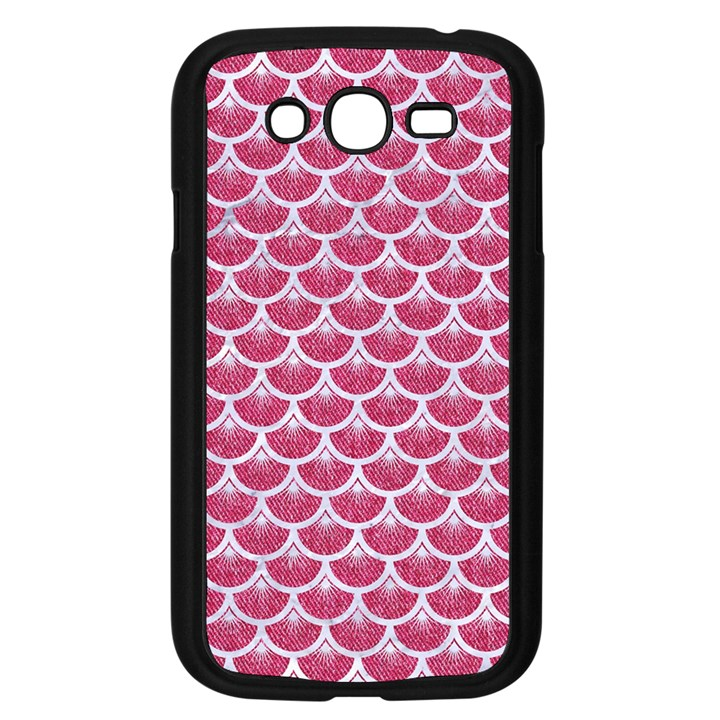 SCALES3 WHITE MARBLE & PINK DENIM Samsung Galaxy Grand DUOS I9082 Case (Black)