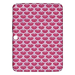 Scales3 White Marble & Pink Denim Samsung Galaxy Tab 3 (10 1 ) P5200 Hardshell Case  by trendistuff