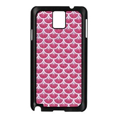 Scales3 White Marble & Pink Denim Samsung Galaxy Note 3 N9005 Case (black)