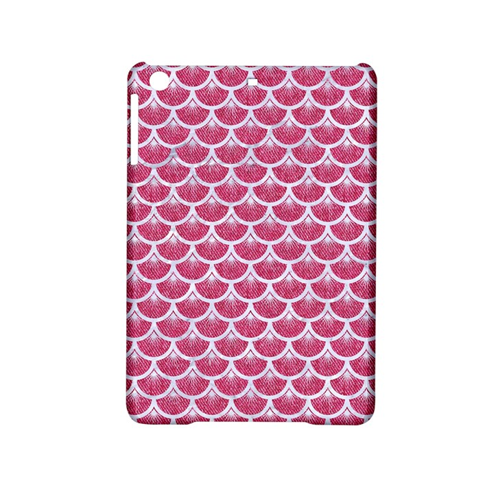 SCALES3 WHITE MARBLE & PINK DENIM iPad Mini 2 Hardshell Cases