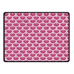 SCALES3 WHITE MARBLE & PINK DENIM Double Sided Fleece Blanket (Small)  45 x34  Blanket Front