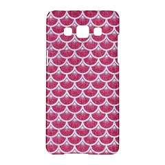 Scales3 White Marble & Pink Denim Samsung Galaxy A5 Hardshell Case